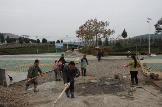 茶海之心景区生态停车场建设有序推进