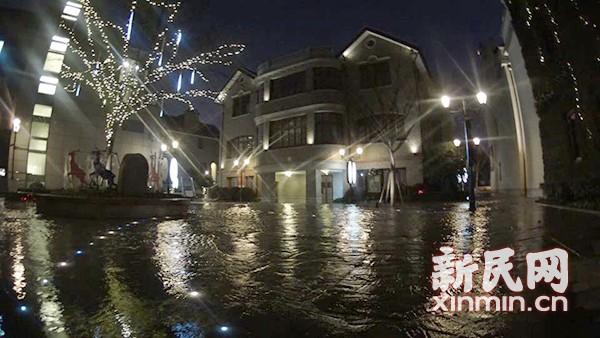 复兴中路水管破裂水淹思南公馆