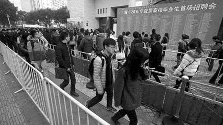 沪应届生招聘会限流 每平米不超0.75人