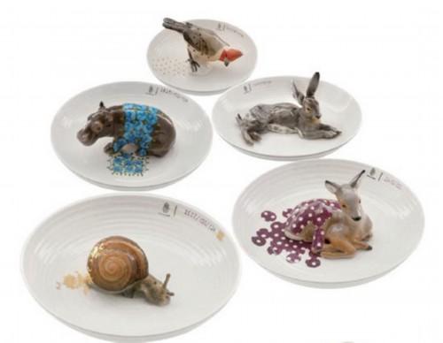手工制作纸餐盘动物