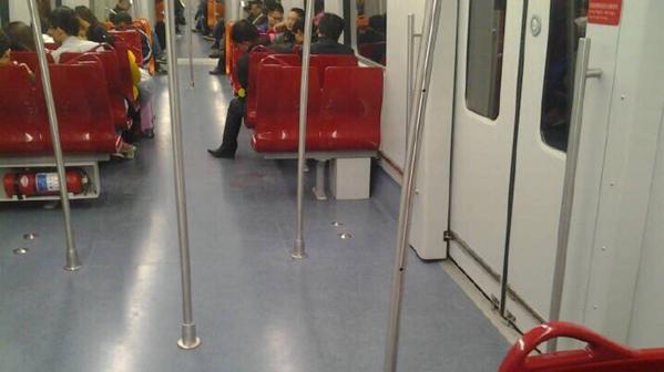 16号线拆座椅