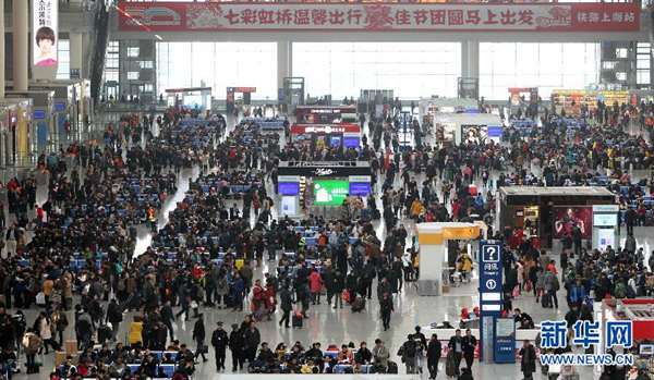 沪春运客流预计达3734万人次 16日为节前最高峰