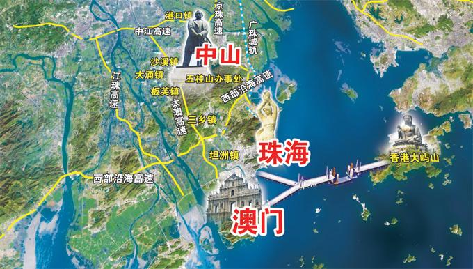 港珠澳大桥设计图高清图片