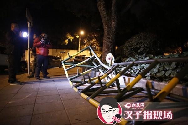 """男子驾车冲撞上海美领馆 声称""""被追杀"""""""