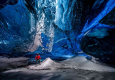 欧洲最大冰川冰洞 美如蓝色水晶宫
