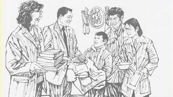 连环漫画:邹碧华救助白血病患儿的故事
