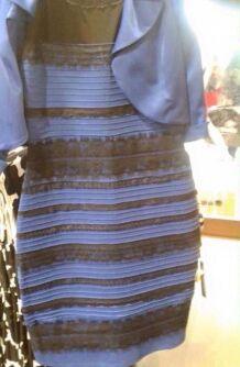"""你看瞎了吗。。这裙子到底是""""蓝黑""""还是""""白金""""?"""