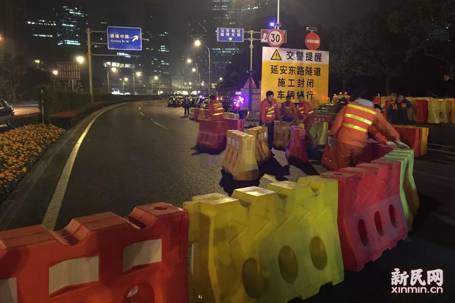 延安东路隧道3月14日起封闭大修