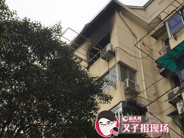 上海长宁虹梅花苑发生火灾 一名七旬老人不幸遇难