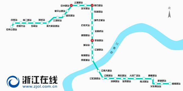 杭州地铁5号线线路图-杭州地铁5号线又有三站开工 换乘之王2019年底图片