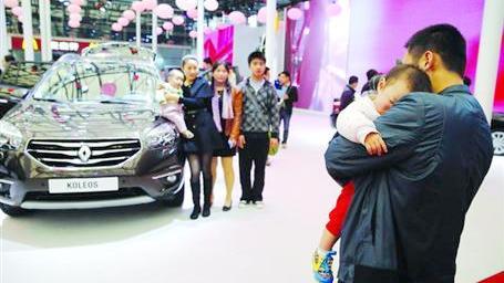 没有车模 今年上海车展还谢绝儿童观展