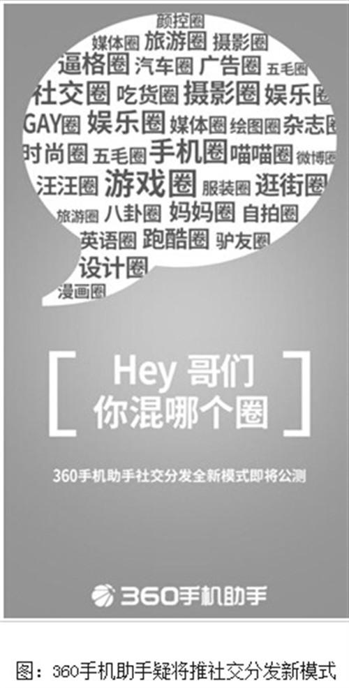 360手机助手海报:社交分发新模式上线