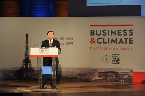 """刘振亚出席""""商业与气候峰会""""并作主旨发言"""