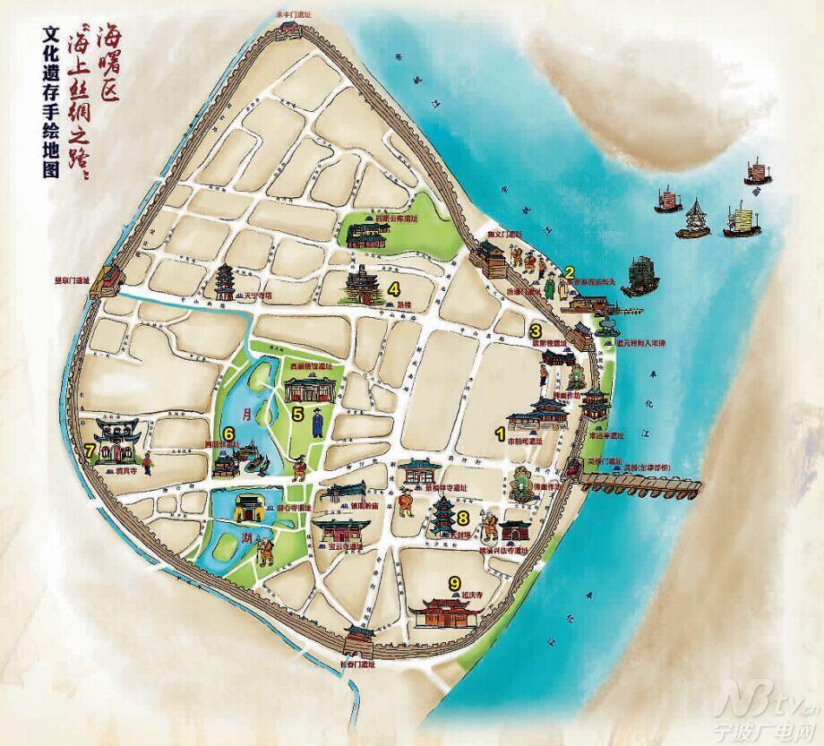 """首幅""""海丝遗产""""手绘地图出炉 标识20多处遗迹"""
