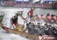 争渡争渡!端午节苏州河上赛龙舟桨花飞