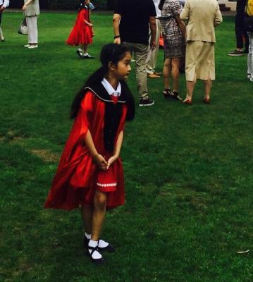马伊琍大女儿幼儿园毕业