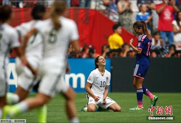 16分钟连灌4球 美国女足