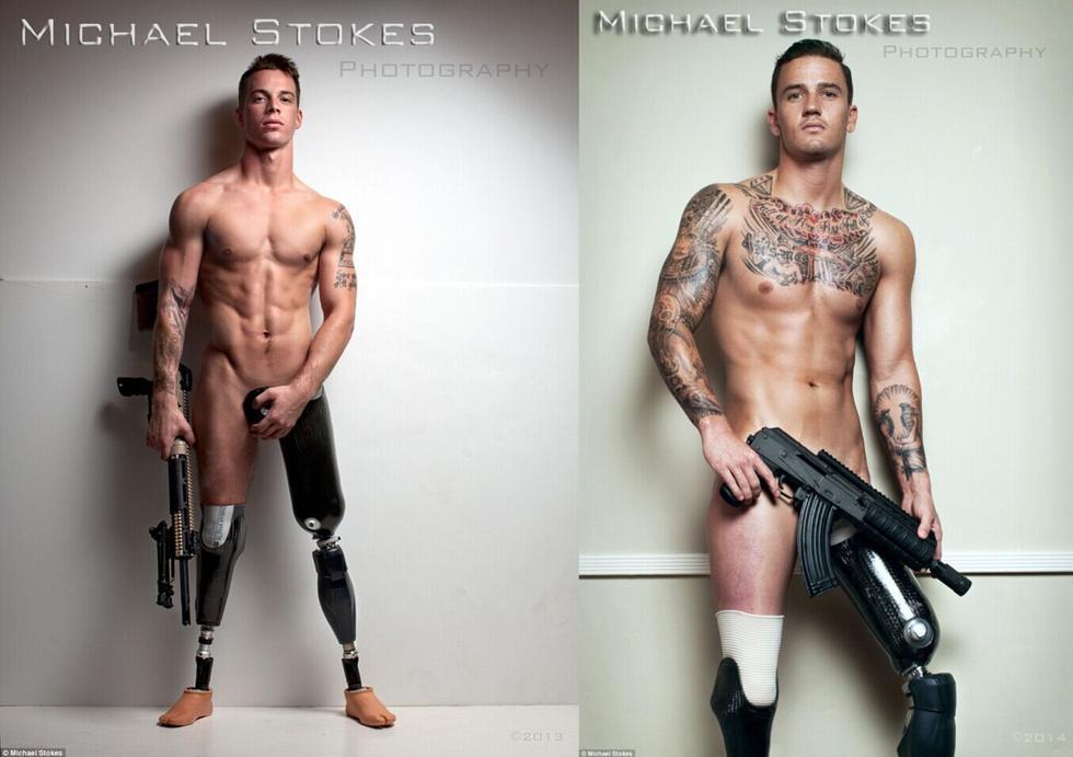 【图】伤残美军拍写真曝光 人体残缺假肢触目