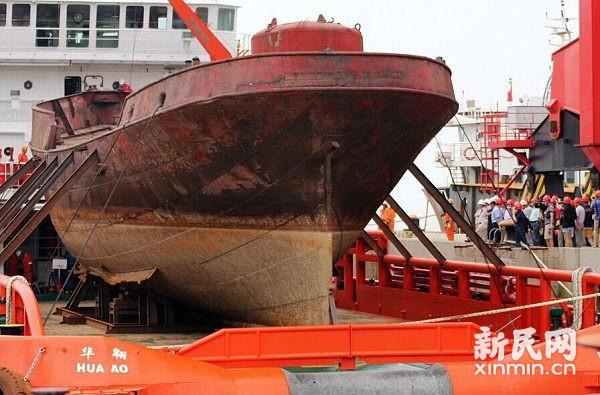 """百年""""营口""""灯船抵沪 最快年内在航海博物馆展出"""