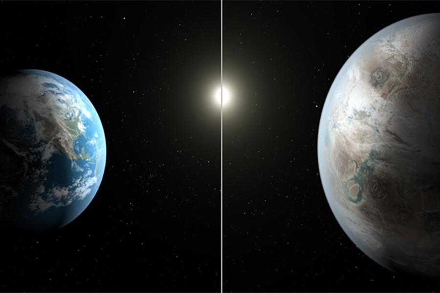 """美国航天局宣布发现""""另一个地球"""" 或有流动水"""