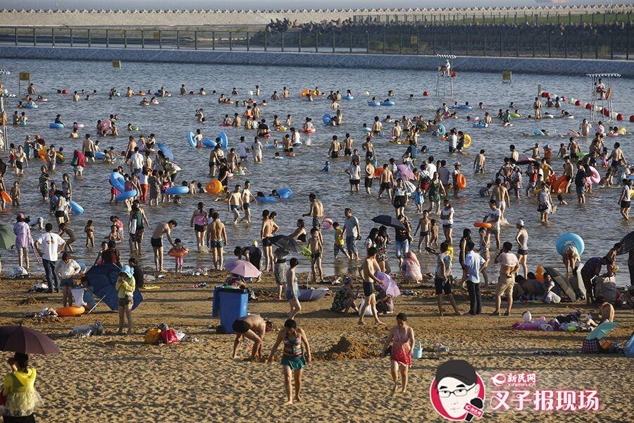 城市沙滩2.0升级 大热天里近自然