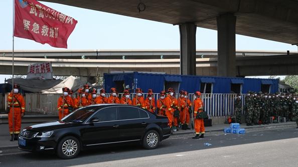 国家级核生化应急救援队赴天津爆炸现场