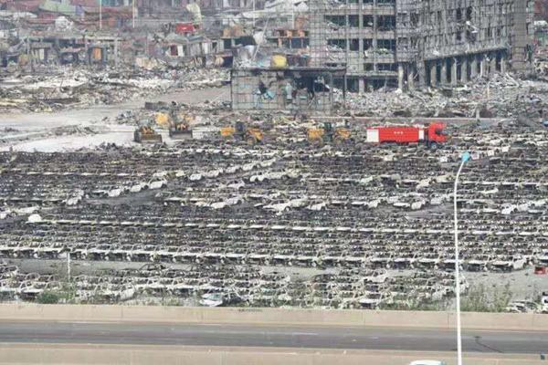 滨海爆炸受损新车或超20亿 理赔有待界定