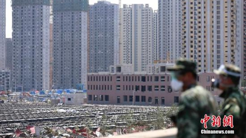 天津爆炸现场最近海港城小区2人遇难
