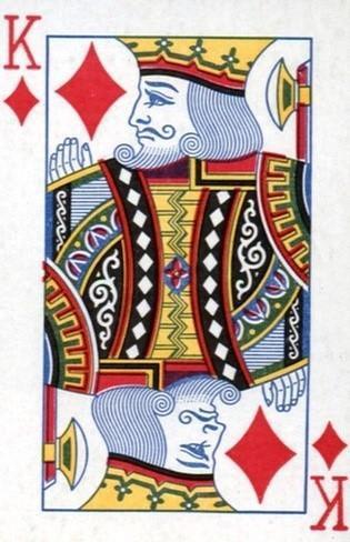 扑克牌上的人物:不是帝王的方片k