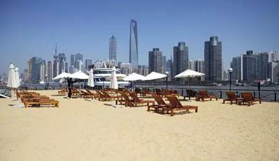 上海市中心竟然也有风景绝美的沙滩