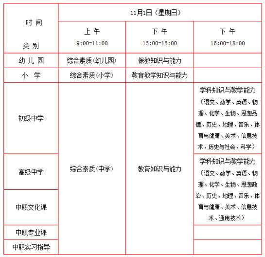 2015下半年北京中小学教师资格考试9月7日起