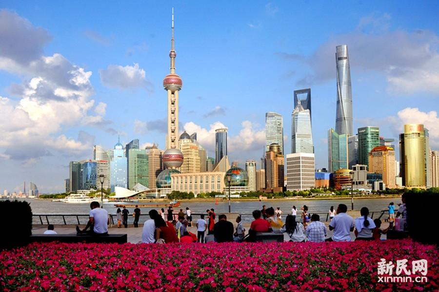 """连日""""上海蓝""""刷出申城夏末天气高颜值"""