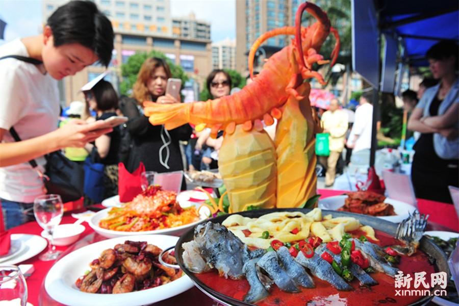 上海仙霞美食文化节开幕 餐点精致不忍动筷