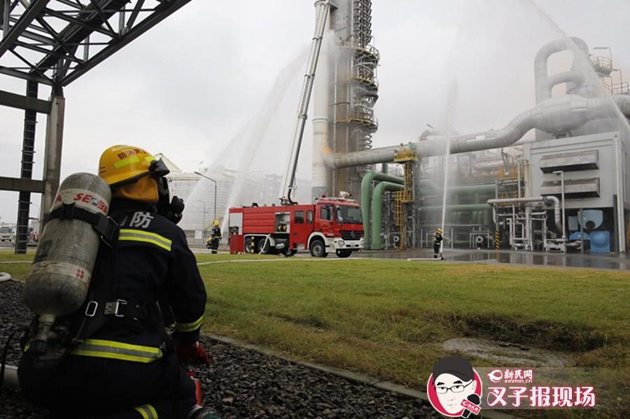 沪特种设备事故演练:化工企业氨泄漏起火1小时除险
