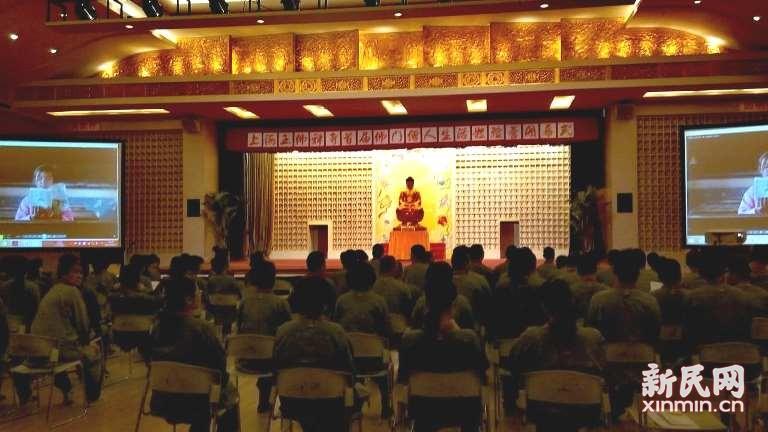 上海玉佛寺僧人体验营报名费全数捐建图书室