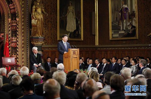 习近平:中英关系发展源自两国人民相互理解支持友谊