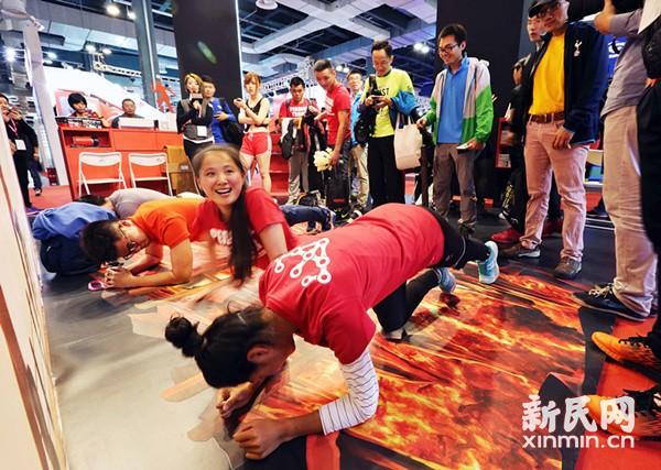 首届上海体博会开幕 高科技展品成最大亮点