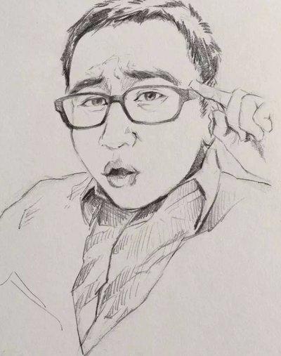 网友手绘毛利哥画像