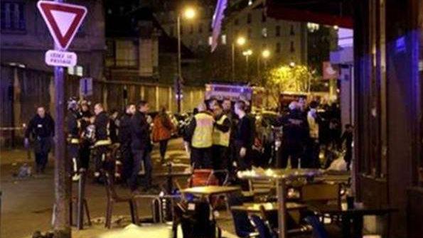 枪击爆炸事件后的巴黎街头