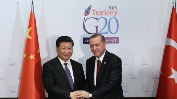 习近平会见土耳其总统:加强国际合作共同打击恐怖主义
