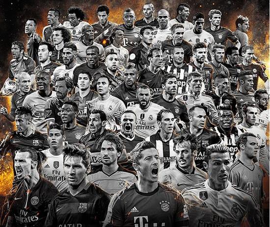 FIFA年度最佳阵容候选:皇马12席 MSN对决BBC
