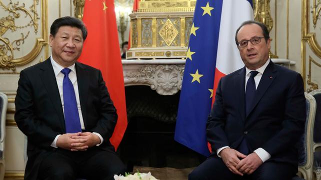 习近平晤奥朗德:坚定支持法办好气候变化巴黎大会