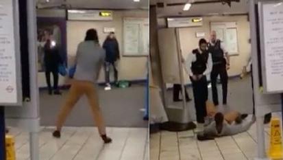 伦敦地铁站一男子持刀刺伤3人 警方称是恐怖攻击