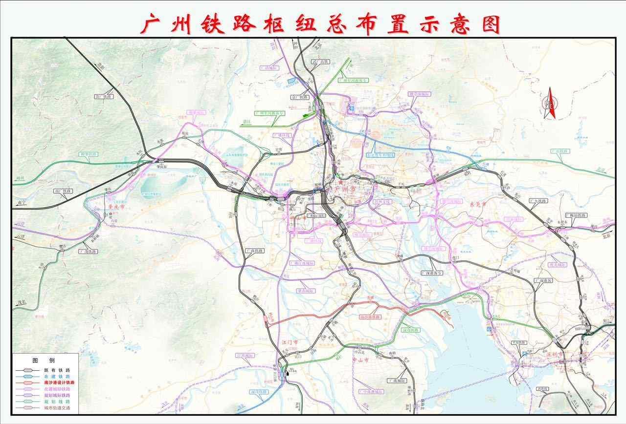 铁路自既有广珠铁路线上新建鹤山南站接轨引出,途经江门市鹤山,蓬江
