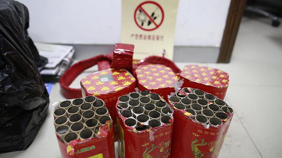 新年刚过1分31秒 沪男子放焰火吃烟花禁令升级后首张罚单
