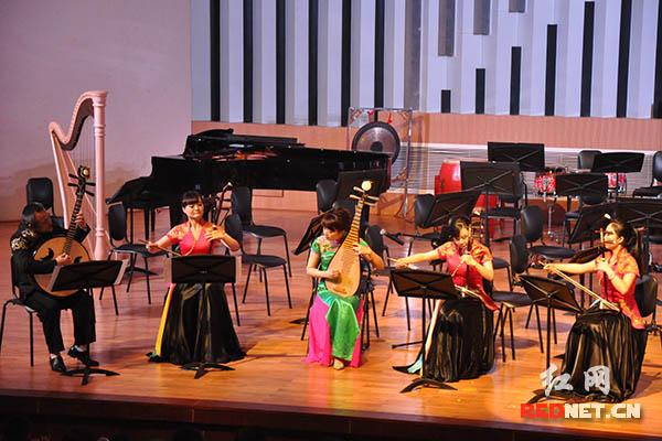 与弦乐四重奏《大浪淘沙》.-湖南2016年首场新年民族音乐会奏响