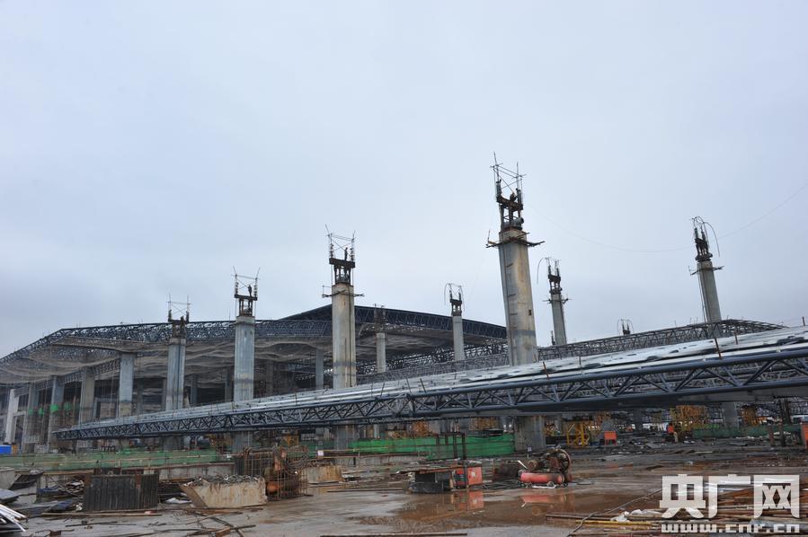 云南高铁昆明南站主体工程完工