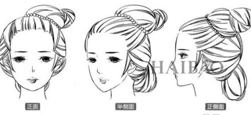 秦朝发型参考图片