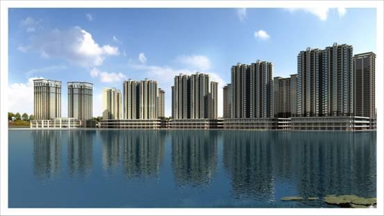 最美栖居——天羿荣耀城,岳池公园级湖居