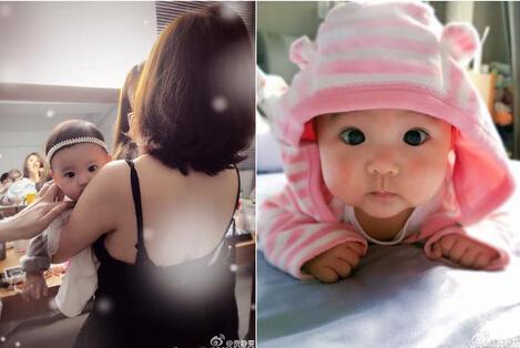而且他们俩的宝贝也太可爱了吧,大眼睛跟戴了美瞳一样.▼